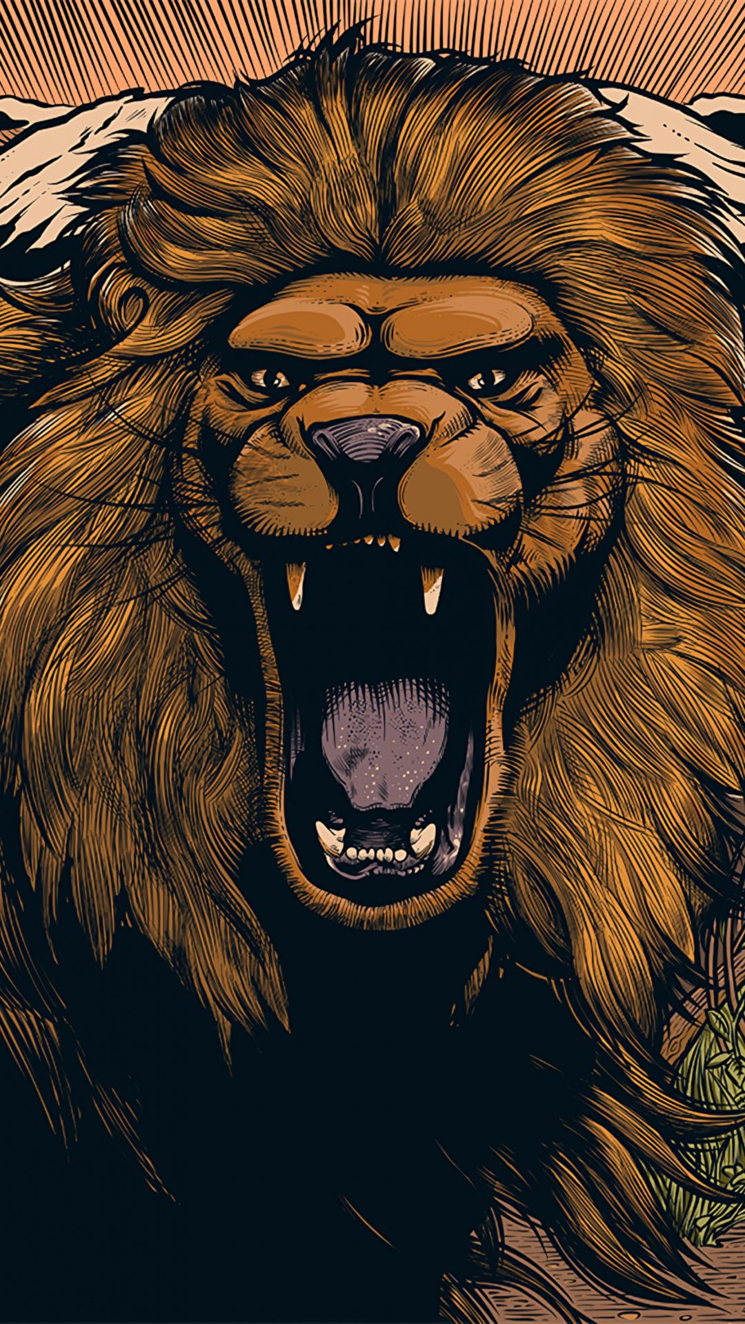 Wallpapers Packaging And Labeling Illustration Lion Felidae Grizzly Bear Lion Bear Wallpaper Lion Art