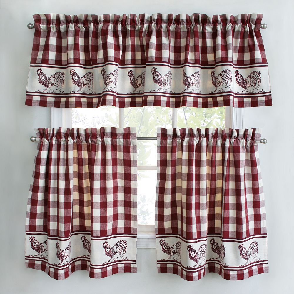 Buffalo Check Tier Kitchen Window Curtains | Buffalo check ...