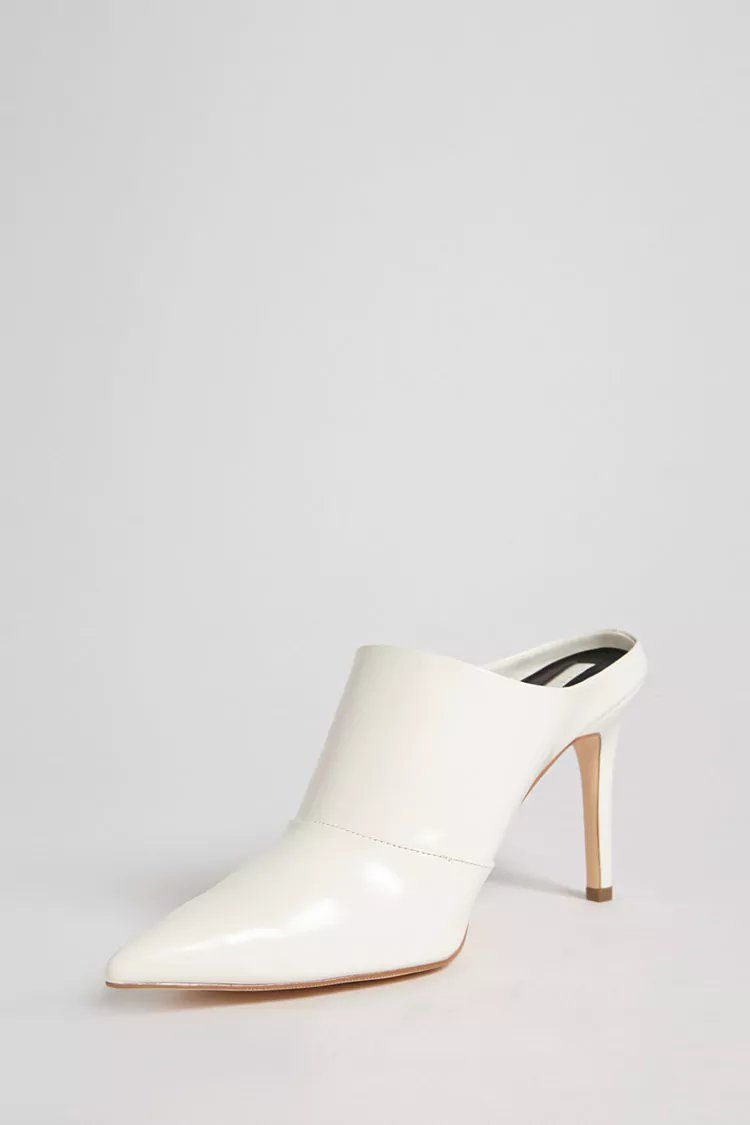 3e6c79c6f4200 Faux Patent Leather Stiletto Mules in 2019 | forever 21 | step it up ...