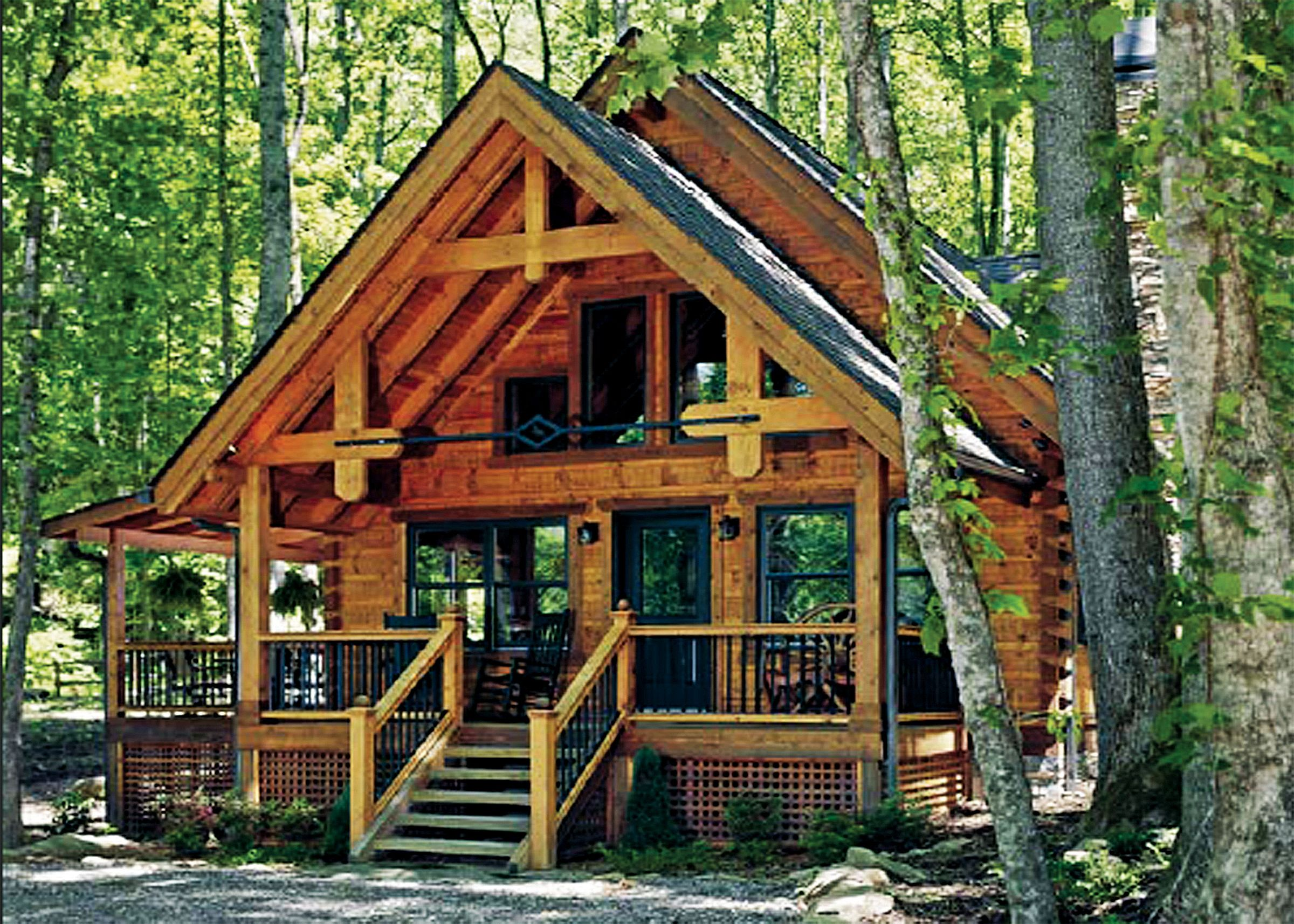 Whittier Home Plan - LogHome.com | Log homes, House plans, Cabins in the  woods