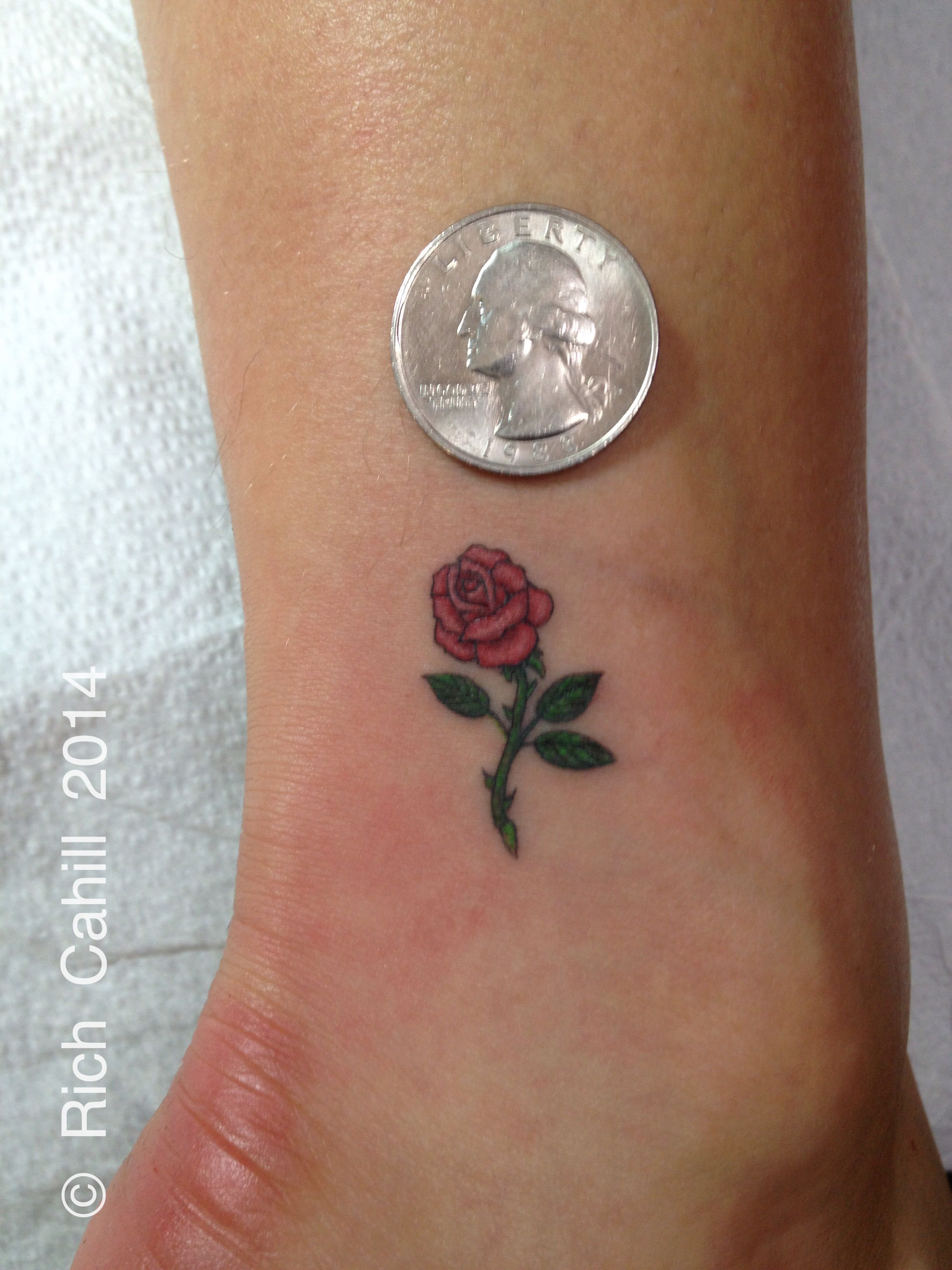 Rich Cahill Nyadorned Micro Rose Tattoo Mini Tattoo Tiny Tattoo Perfect With Images Tiny Rose Tattoos Pink Rose Tattoos Yellow Rose Tattoos