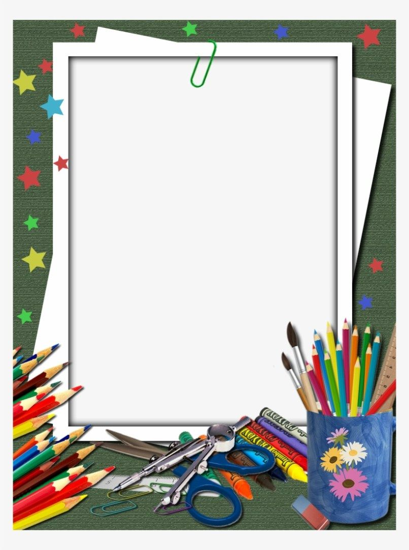 Download School Supplies Border Png Png Gif Base Free School Borders School Border School Scrapbook
