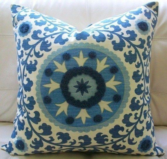 Decorative Designer Pillow Cover 20x20 Suzani By Elegantouch    Mediterranean   Pillows   Etsy