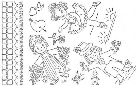 Vintage Children Redwork Designs :)
