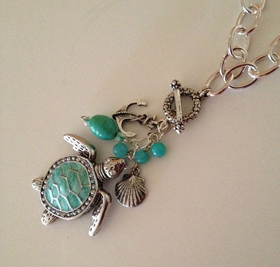 Turquoise Turtle Pendant for interchangeable by VzoriCollections, $23.00