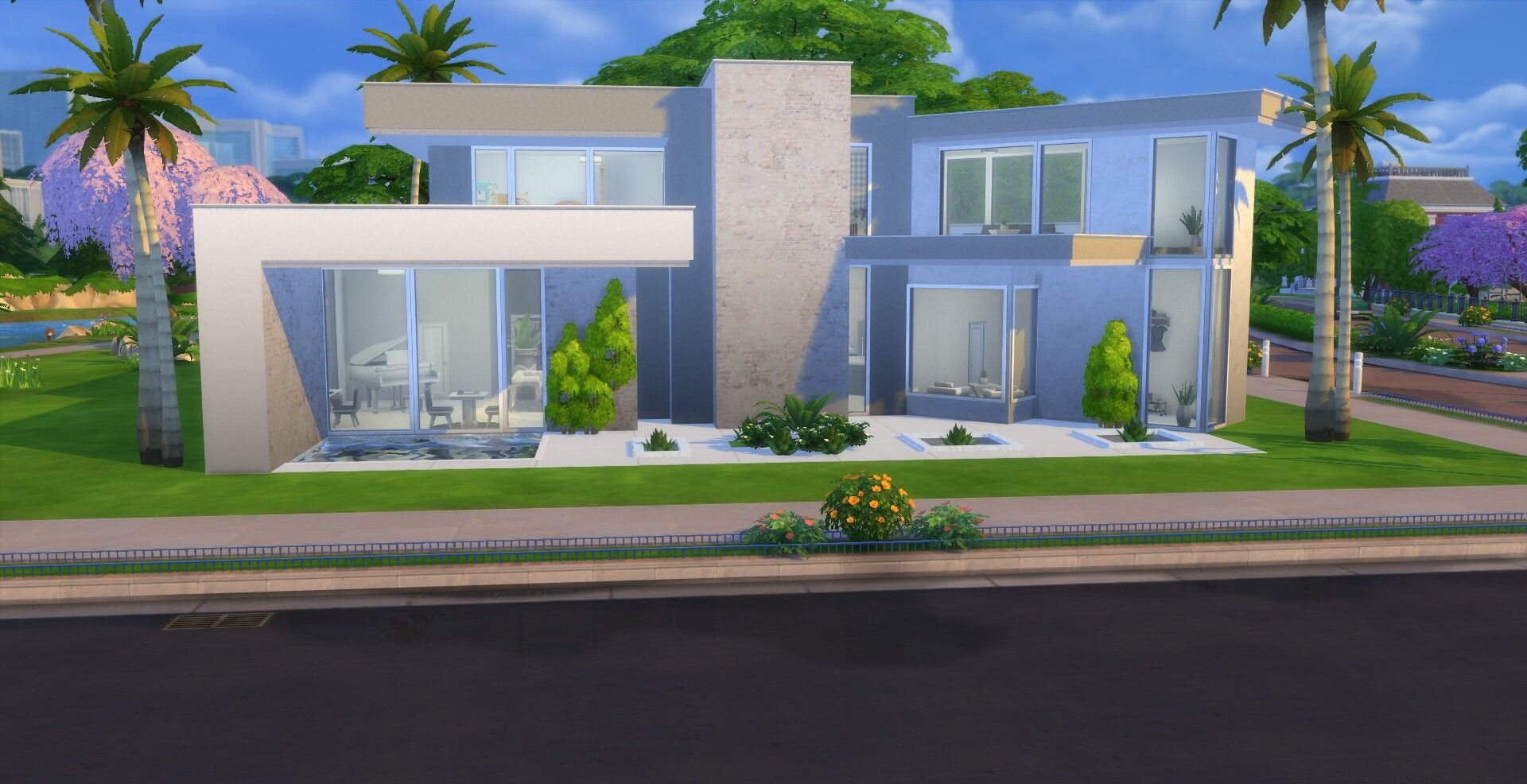 Sims 4 Modern House By Selinagr96 House Modern Architecture The