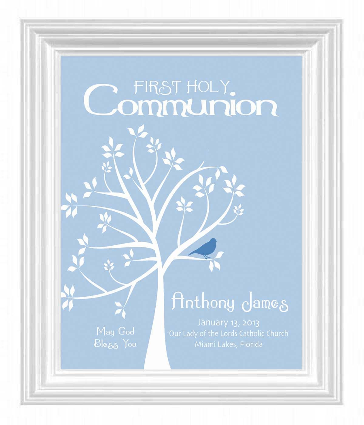 Communion personalized gift first holy communion print boys room communion personalized gift first holy communion print boys room wall art other colors available 1500 via etsy negle Image collections