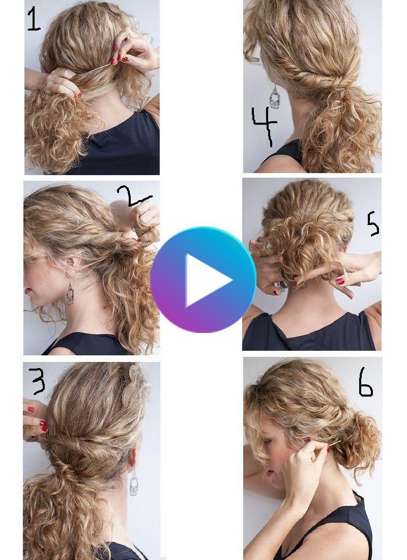 How Can I Get My Curly Hair With Simple Steps Ad 1 Wie Kann Ich Mein Lockiges Haar Mit In 2020 Curly Hair Styles Easy Easy Hairstyles Curly Hair Styles Naturally