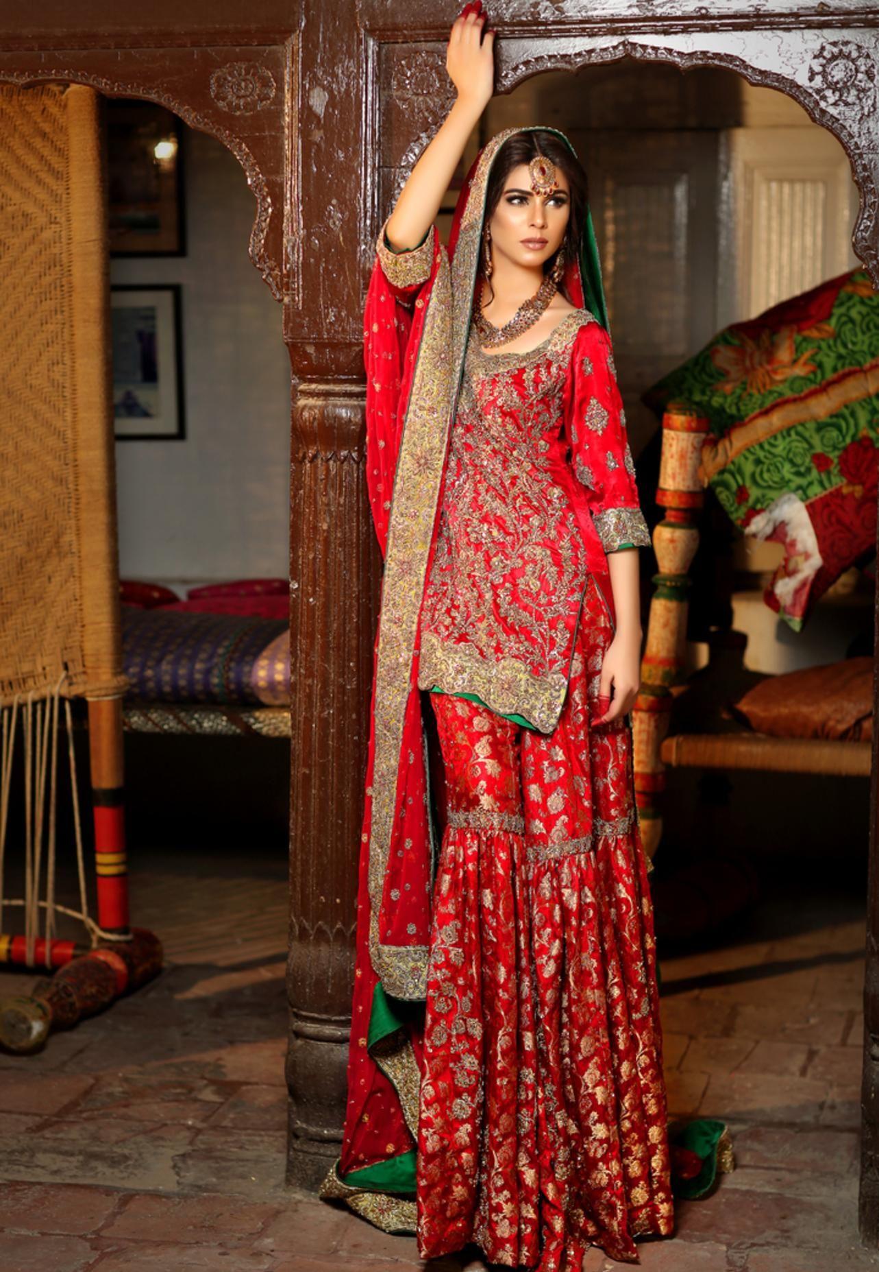 Karachi Bridal Wear u Bridal Lehengas at Nazo Couture  Ocean Mall