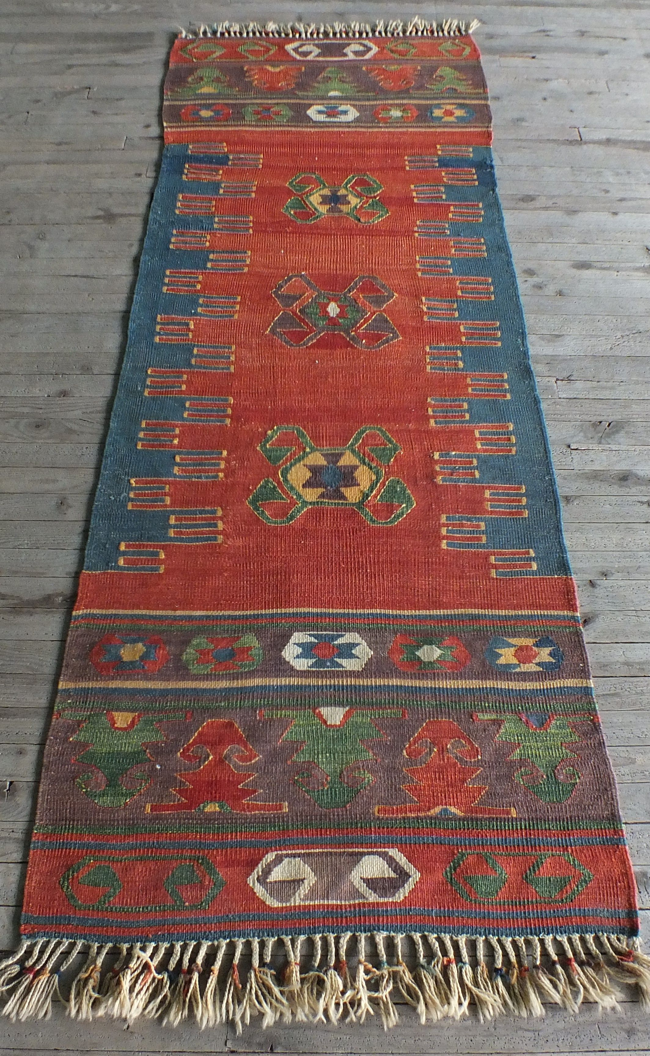 Kilim Runner Vintage Rug Turkish Tribal