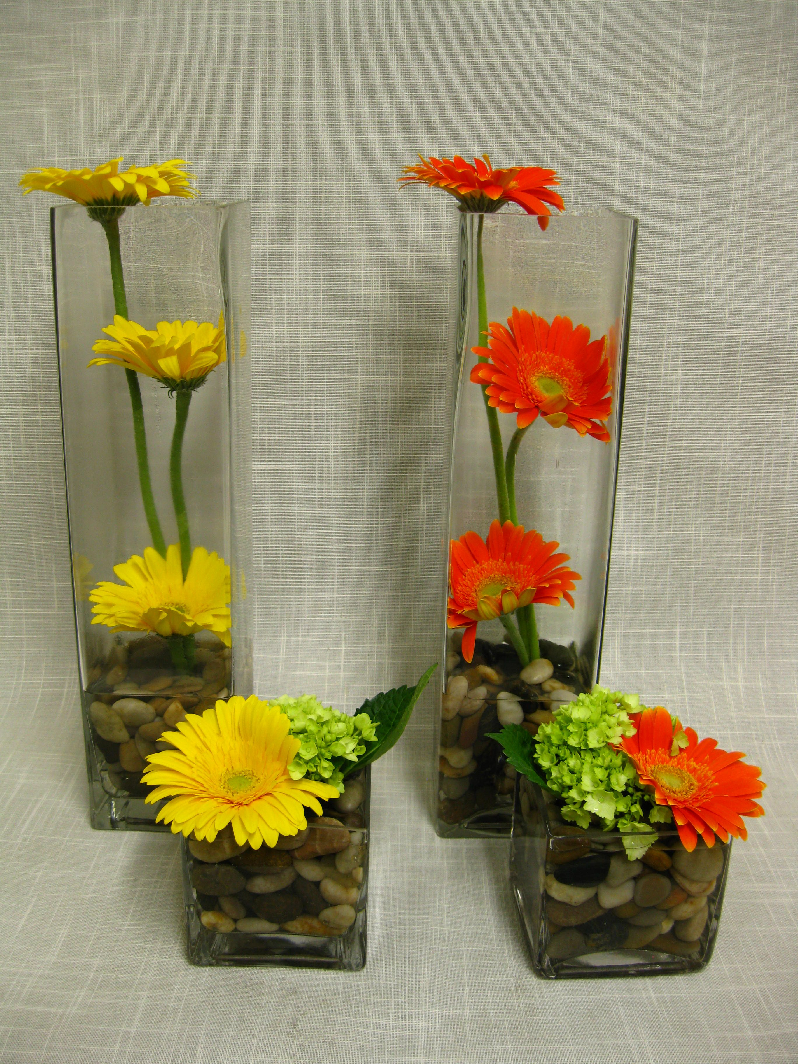 Gerbera Daisy Centerpieces Arreglos Florales Sencillos
