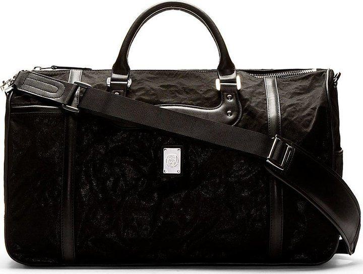 Diesel Black Shimmer Vanguarding Duffle Bag