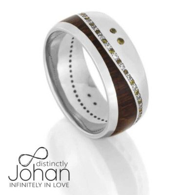 Wood Eternity Wedding Band With Diamonds And Sapphires in Platinum-DJ1017PT