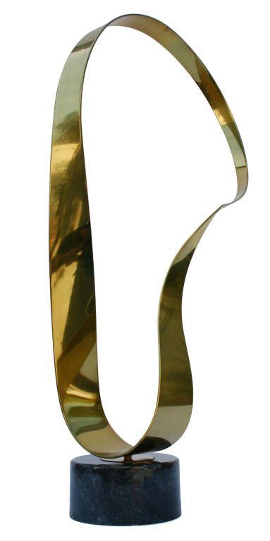 brass sculptural object