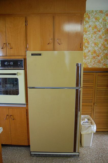 Vintage Hotpoint Harvest Gold Refrigerator The 60 S And