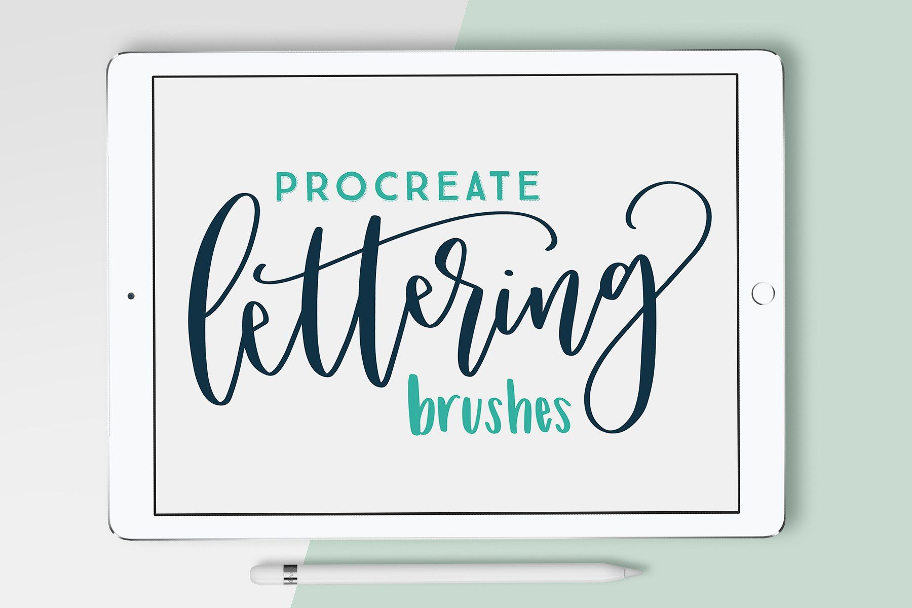 Lettering brush pack for procreate with every stroke of