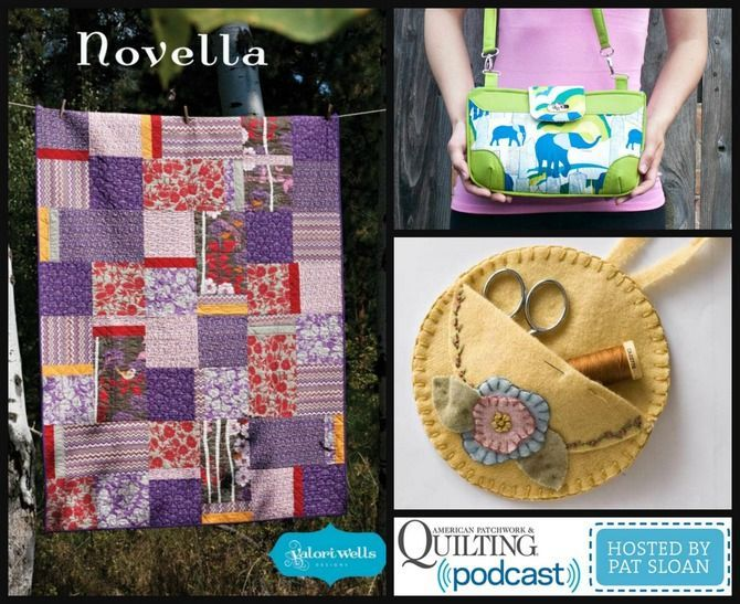 Pat Sloan chats with Sara Lawson, Roseann Kermes and Valori Wells! And the END are links to a FREE pattern from EACH of my guests! http://blog.patsloan.com/2015/02/pat-sloan-free-quilt-pattern-bag-and-sewing-caddy-from-my-guests.html ........