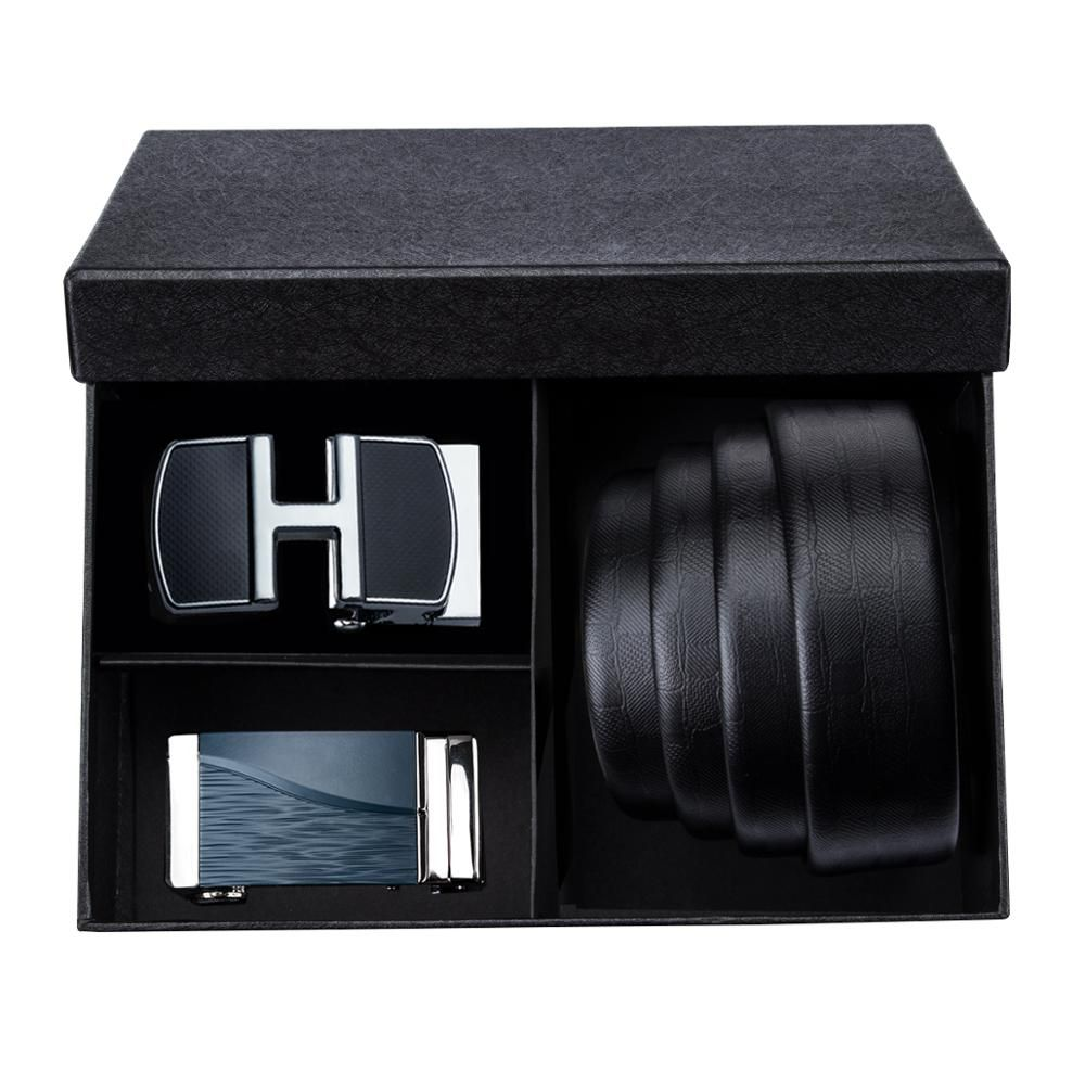 Genuine leather luxury brand belt for male metal automatic buckle