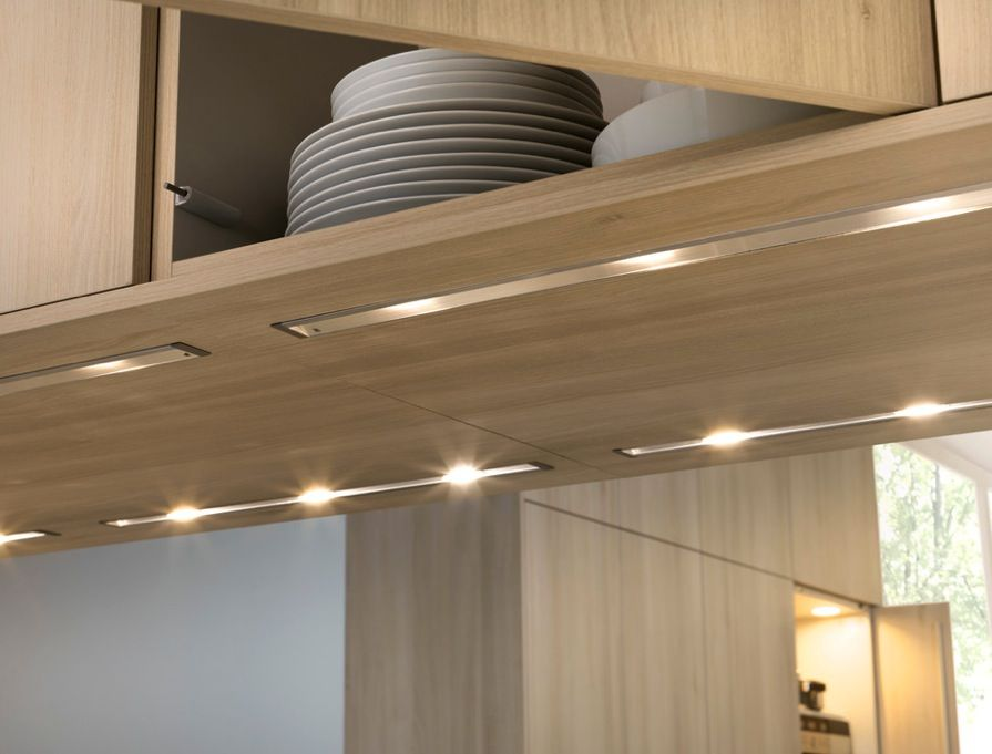 undercounter lighting flushed w cabinet