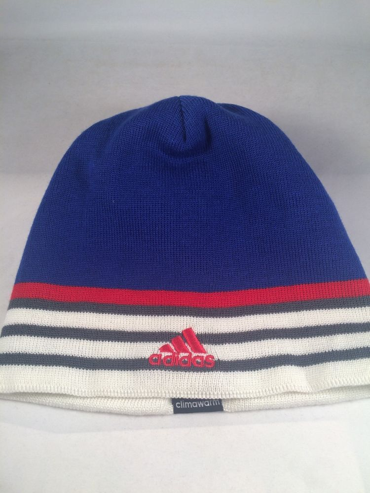 a1948a1cb New Men's Adidas Hat Beanie Cap Blue White Red One Size, Adult Gift ...