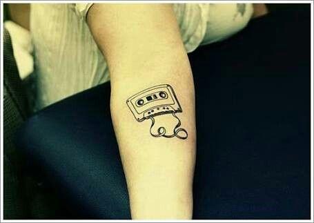 I Will Always Love The Retro 80 S Music Cassette Tattoo Headphones Tattoo Music Tattoos