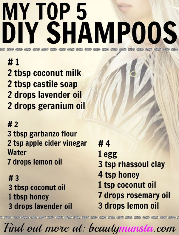 My Top 5 Favorite Natural Shampoo Recipes – DIY at Home! – beautymunsta – free natural beauty hacks and more!