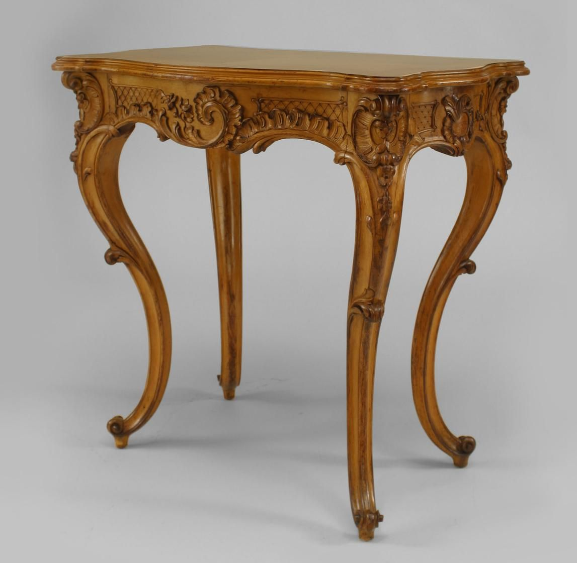 French Victorian Table End Table Maple