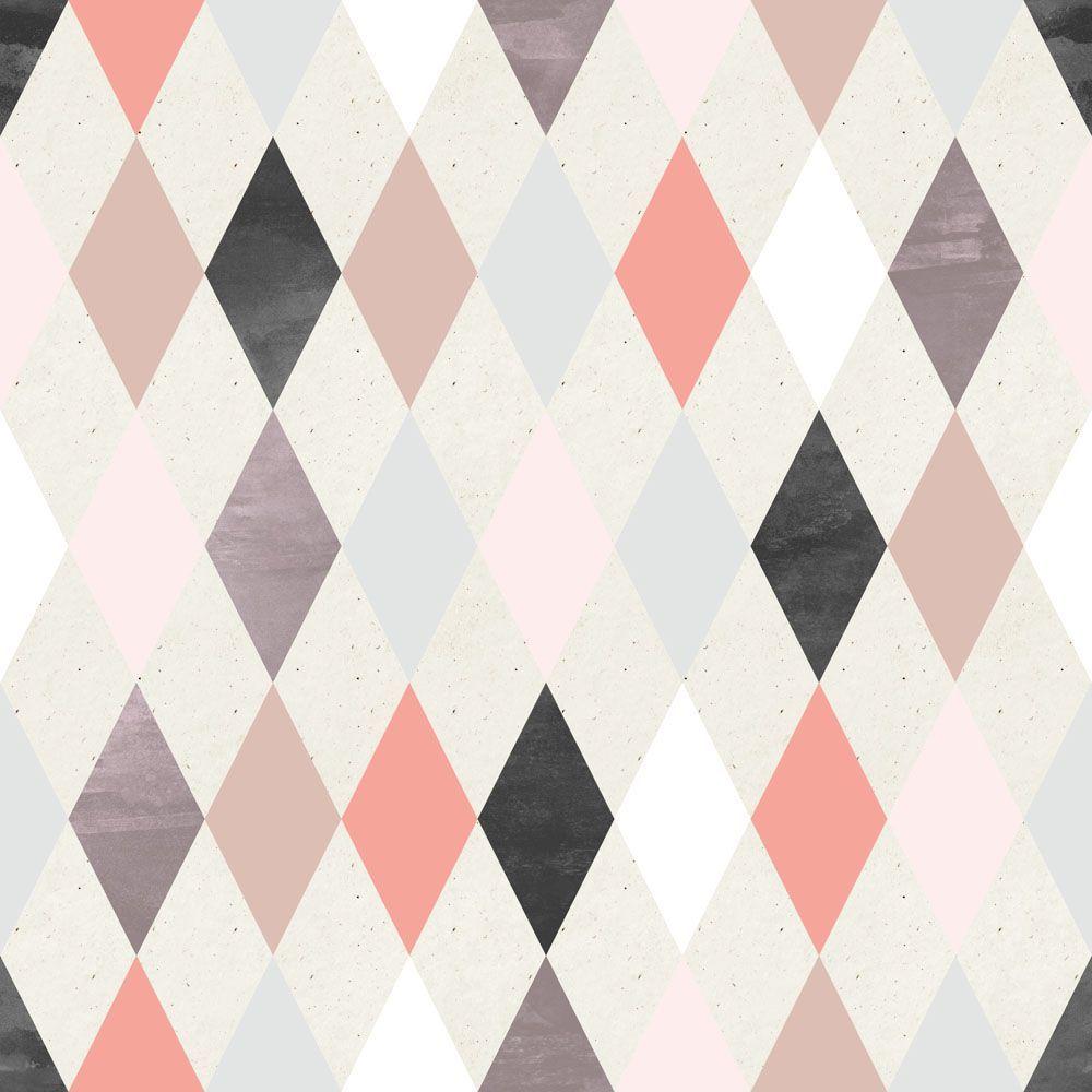 Papel de Parede Geometrico 1836  Estamparia  Pinterest  Modelos de papel,