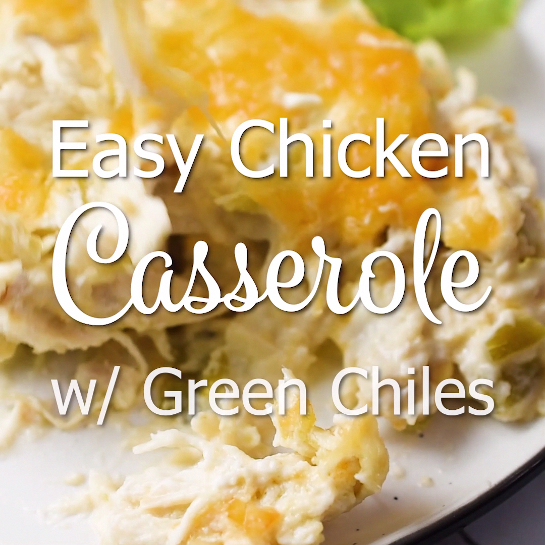 This easy chicken casserole with green chiles is perfect for those times you need an easy dinner recipe and are craving some healthy comfort food, too. This low carb chicken casserole will be a hit with the whole family!