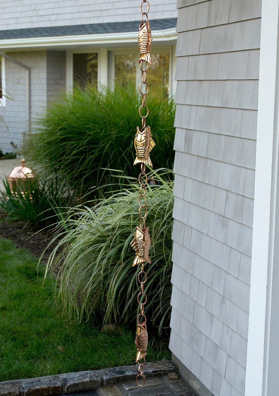 GOOD DIRECTIONS 6 Fish Rain Chain | Patio/Outdoor Gardening ...