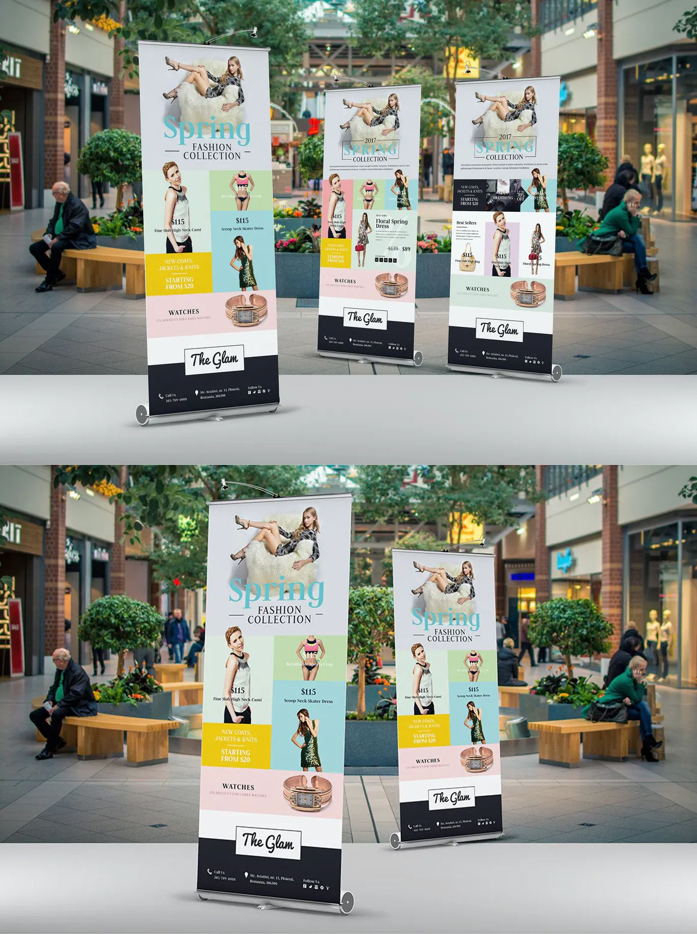 Fashion Roll Up Banner By Floringheorghe On Envato Elements Roll Up Design Banner Template Banner Template Design