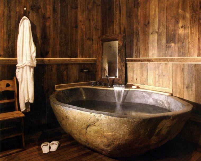 Salle de bain en bois et pierre \u2013 42 créations Une salle
