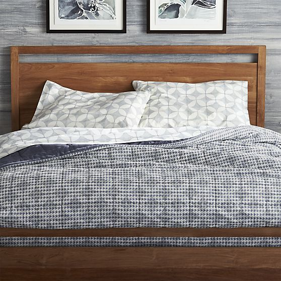oxford blue full/queen quilt in all bedding | crate and barrel