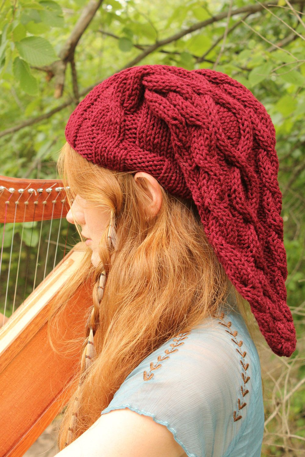 Fire Temple Red Cable-Knit Legend of Zelda Link Inspired Hat | Cable ...