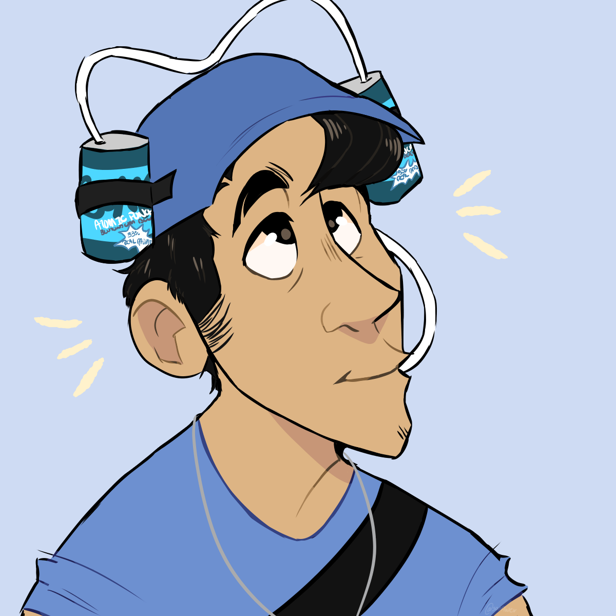 I Drew Myself As Scout With A Bonk Helm D Games Teamfortress2 Steam Tf2 Steamnewrelease Gaming Valve Drawings Scout Team Fortress