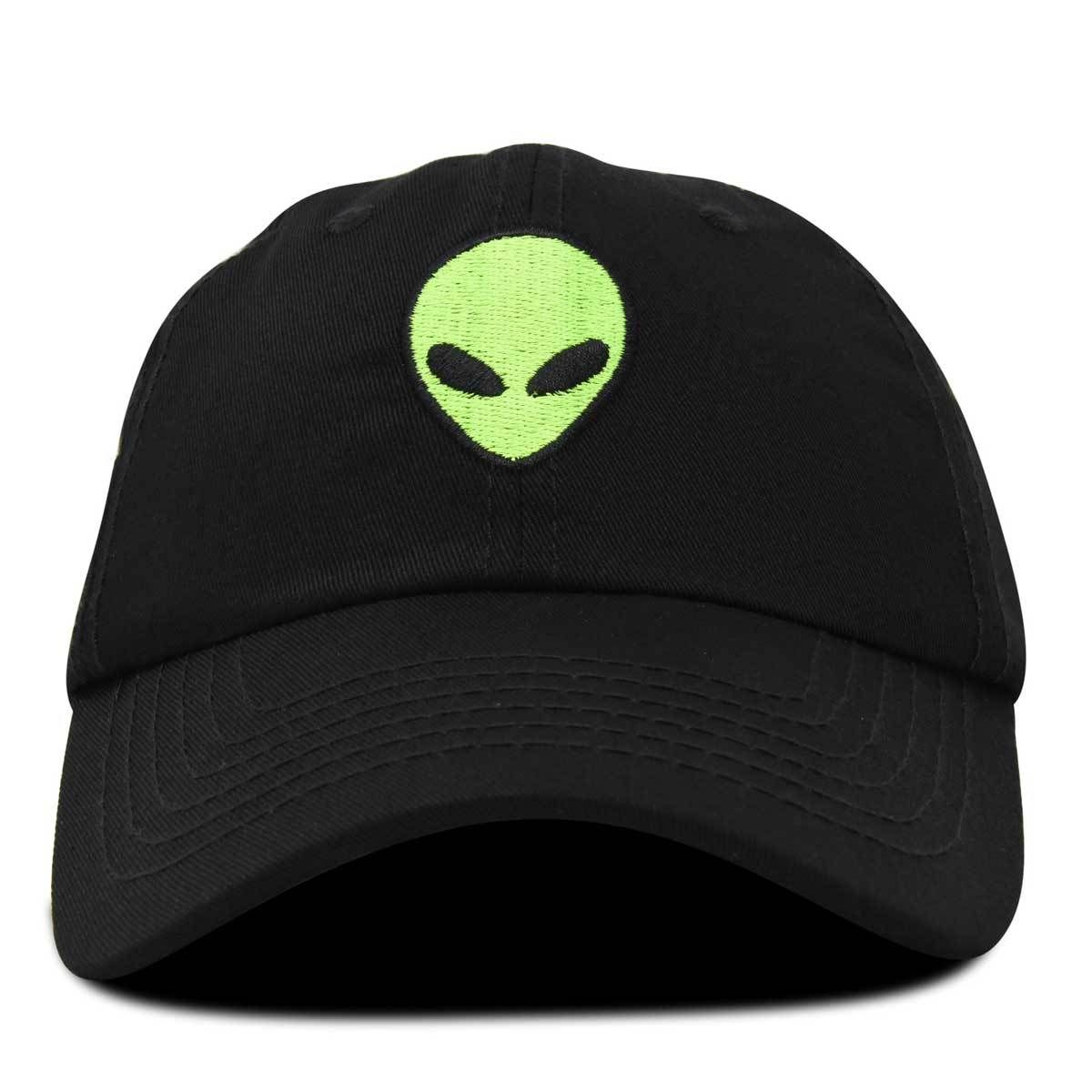Alien Head Aliens UFO Embroidered Hat 4 Colors
