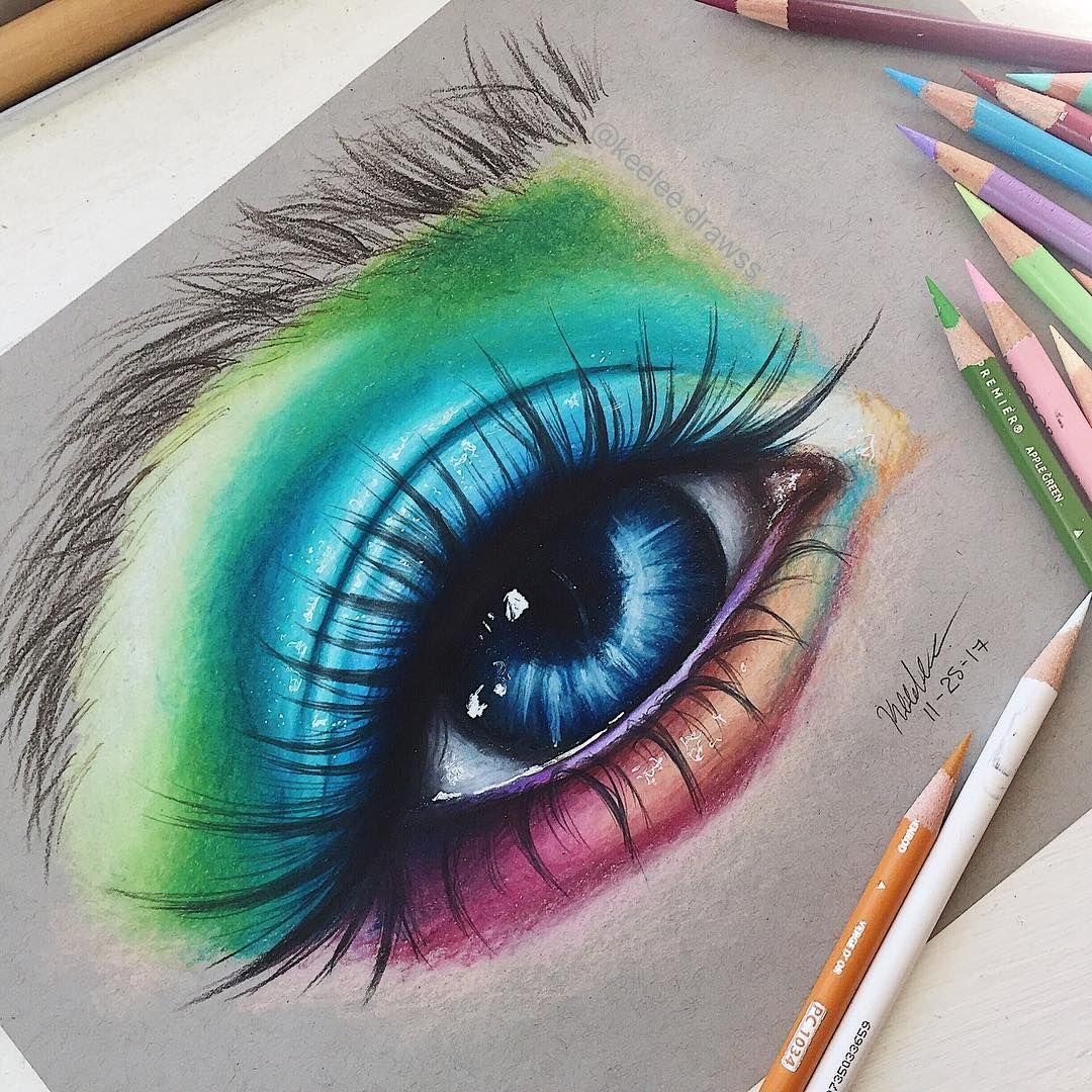 Colorful Eye Drawing Eye Drawing Eye Art Drawings