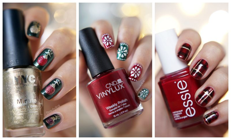 Christmas nail art designs by Beautyill.