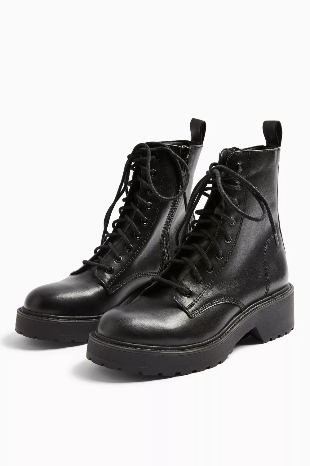 black mid heel lace up shoes