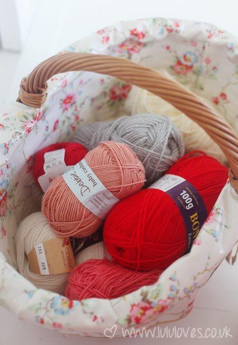 Wool - yarn basket, always a good thing xox