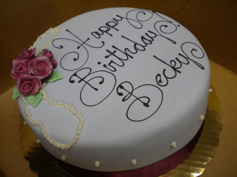 Love The Simplicity Of This Cake And The Wonderful Script Writing