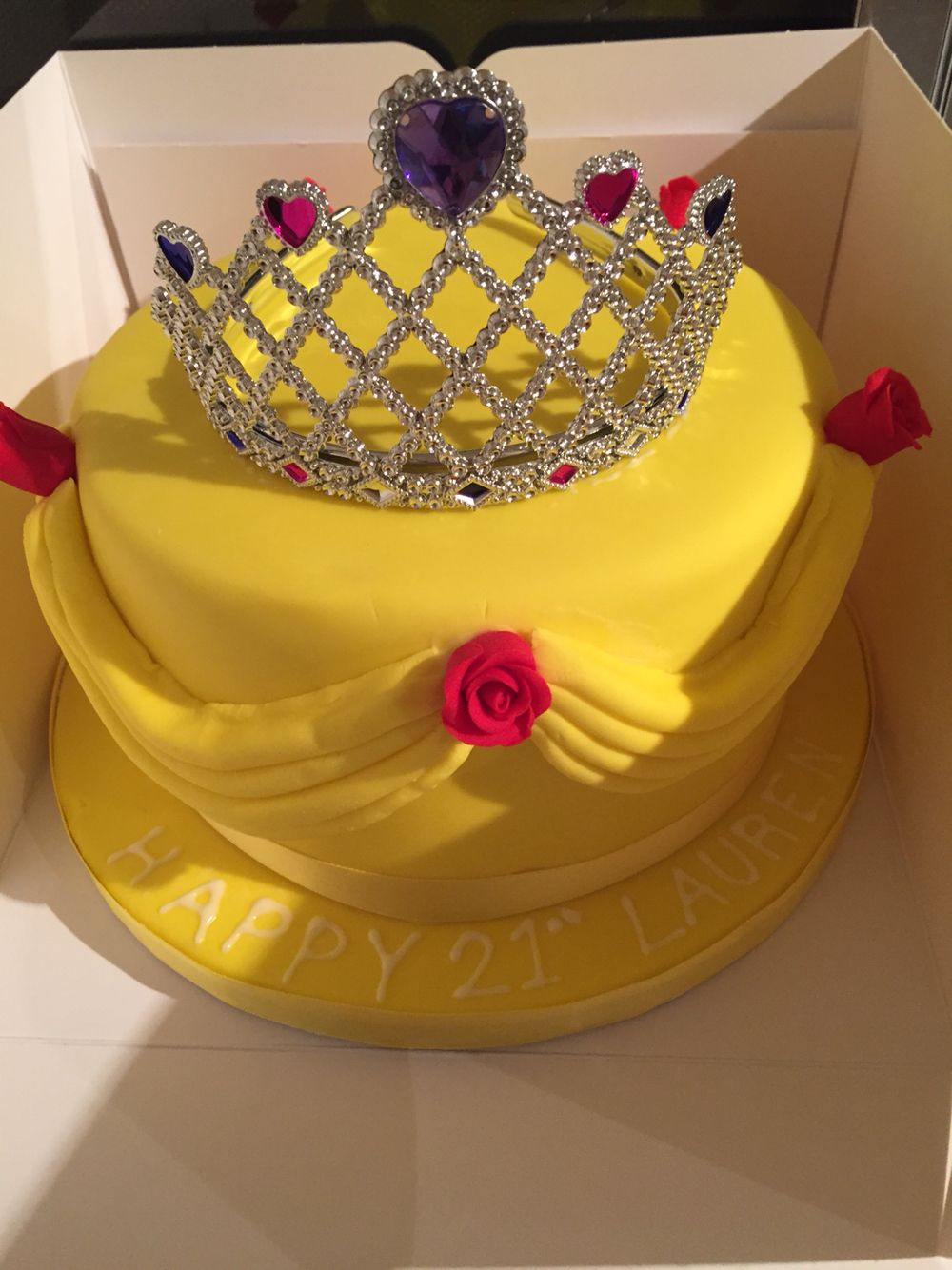 Princess belle cake made for my best friends 21st birthday