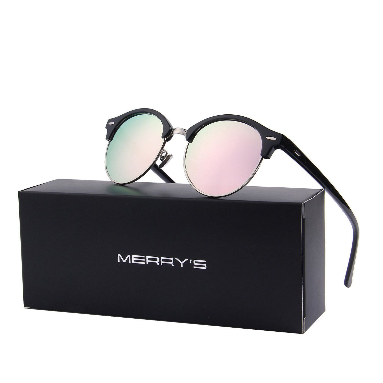 a5d436a192c7 Brand Sunglasses Retro Merry S Men For Rimless Semi Women Polarized UxRqwP