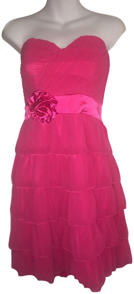 Ever-Pretty Pink Chiffon / Party Short Cocktail Dress Size 12 (L)