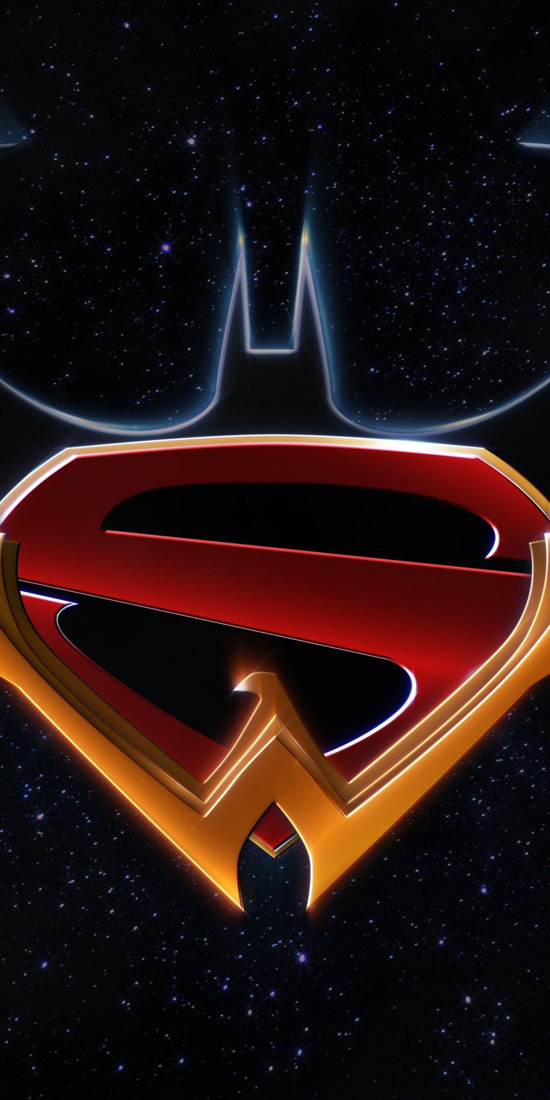 Logo, dark, Batman, Superman, Wonder Woman DC comics