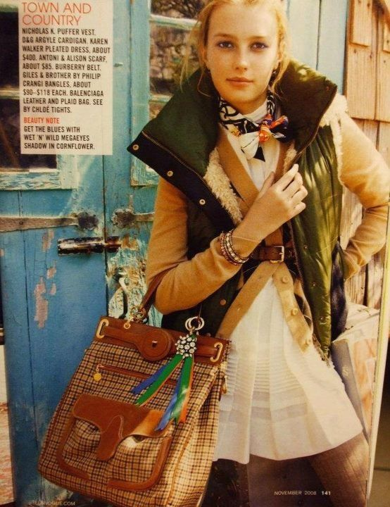 Flashback: Sigrid's first modeling job back in 2008 for a Teen Vogue editorial