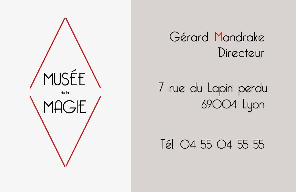 Exercice De Formation Proposition Carte Visite Recto 1 Pour Le Muse