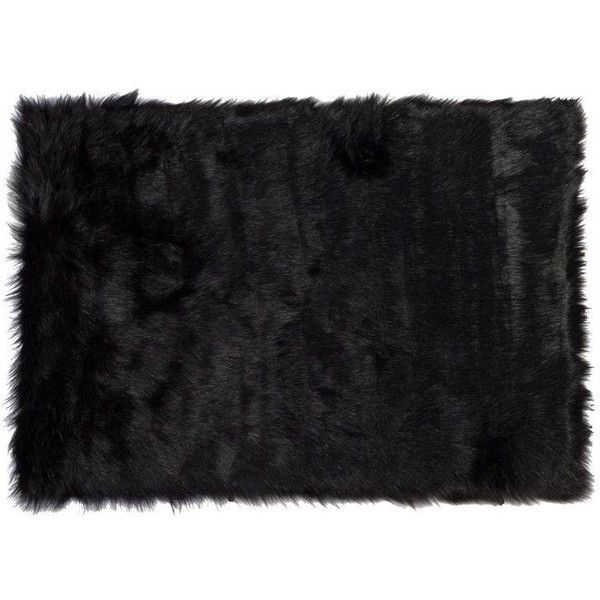 Hudson Faux Black Sheepskin Rug 2 3 3 24 Liked On Polyvore Featuring Home Rugs Synthetic Area Rugs F Faux Sheepskin Rug Sheepskin Rug Classy Rugs