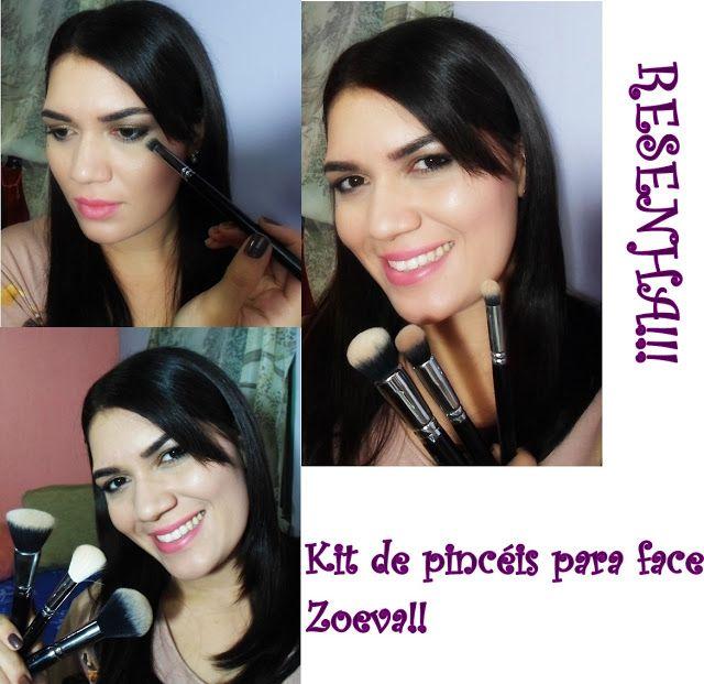 Resenha: Kit de Pincéis para face Zoeva!! | Pensa se eu fosse rica!