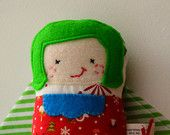 Xmas Pocket Poppet - Girl, $10 off your next purchase with this sweet little gal...